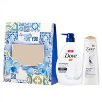 Hộp quà tặng Sữa tắm dưỡng thể Dove 530g và Dầu gội dưỡng tóc phục hồi Dove170g