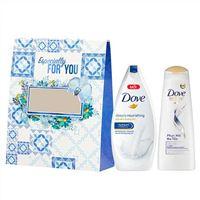 Hộp quà tặng sữa tắm dưỡng thể Dove 180g và Dầu gội Dove phục hồi 170g