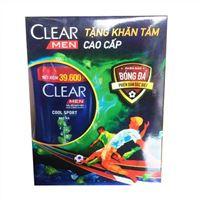 Dầu gội trị gàu Clear Men Cool Sport 900g - Tặng khăn tắm cao cấp