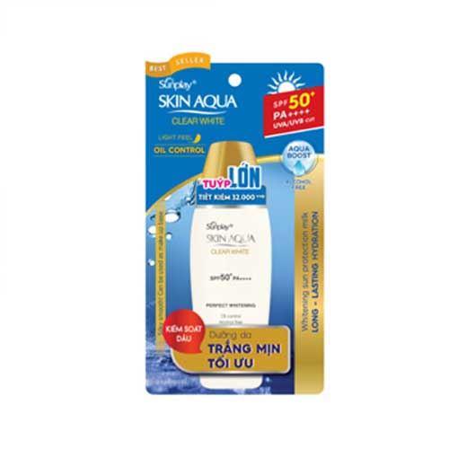 Sữa chống nắng dưỡng da trắng mịn Sunplay Skin Aqua Clear White SPF50+ 55g