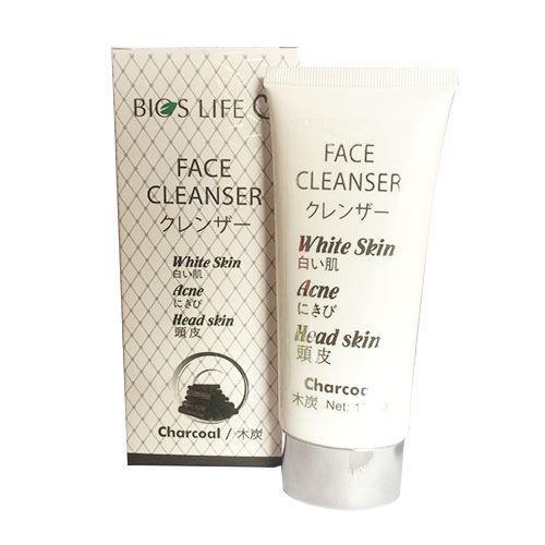Sữa rửa mặt than hoạt tính trắng da sạch mụn hết nhờn Bios Life 120ml