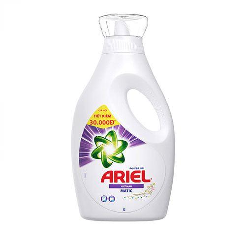 Nước giặt giữ màu Ariel Power Gel Matic 2.4kg - Dạng Chai