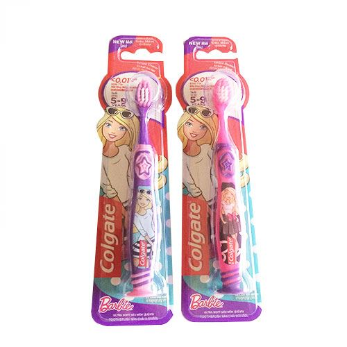 Bàn chải đánh răng em bé Colgate Barbie siêu mềm từ 5-9 tuổi