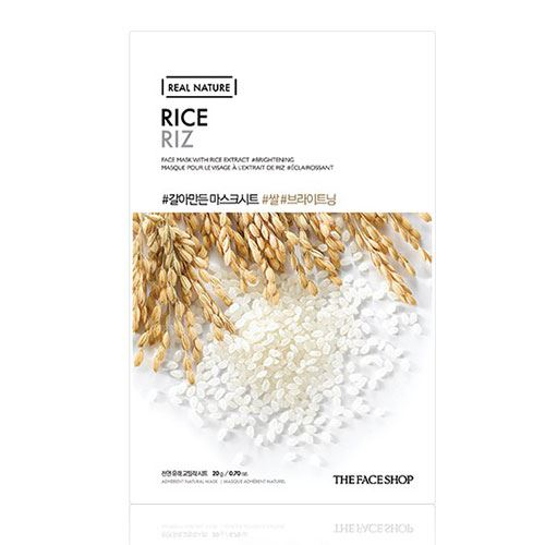 Mặt nạ gạo Real Nature Rice Riz TheFaceShop 20g
