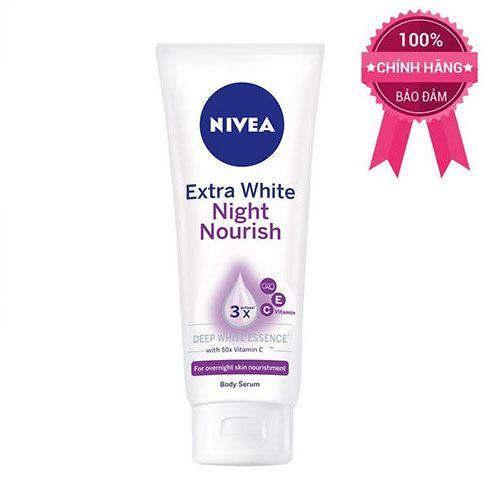 Tinh chất dưỡng thể dưỡng trắng da Nivea Extra White Night Nourish ban đêm 180ml