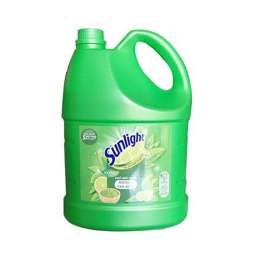 Can nước rửa chén Sunlight khử mùi tanh Matcha Trà Nhật 3.8kg