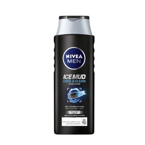 Dầu gội bùn khoáng sạch sâu mát lạnh Nivea Men Cool&Clean 380ml