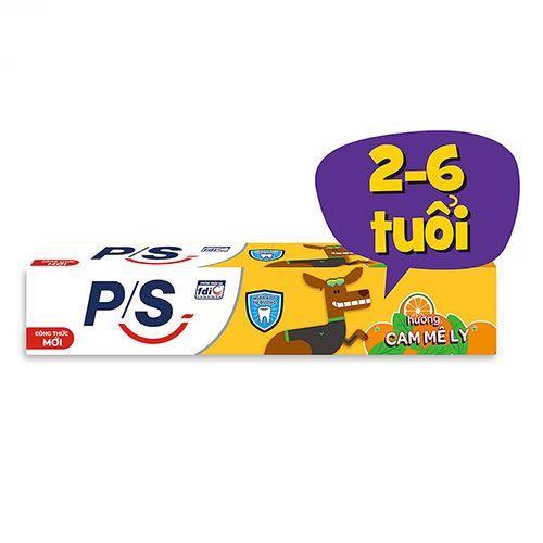 Kem đánh răng P/S trẻ em hương cam mê ly 45g-Dành cho bé từ 2 đến 6 tuổi
