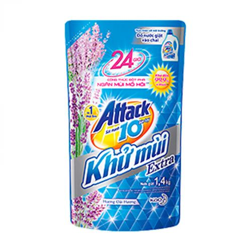 Túi nước giặt khử mùi Attack Extra hương hoa oải hương 1.4kg