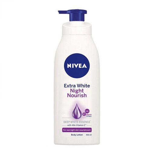 Sữa dưỡng thể săn da Nivea Night White 400ml
