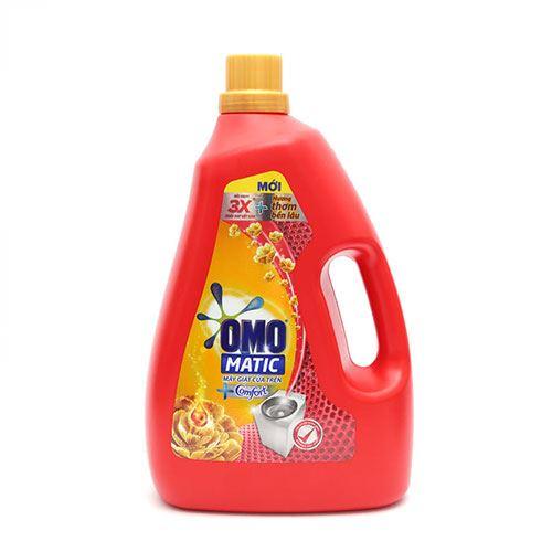 Nước giặt Omo cửa trên Hương tinh dầu thơm Comfort 2.3lit - Dạng Chai