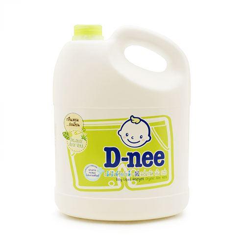 Nước giặt quần áo em bé D-Nee Organic Aloe Vera Xanh Lá 3lit