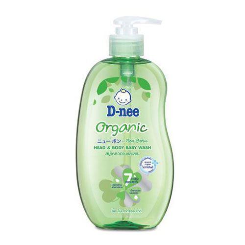 Tắm gội toàn thân em bé Baby D-Nee Organic Xanh lá 800ml