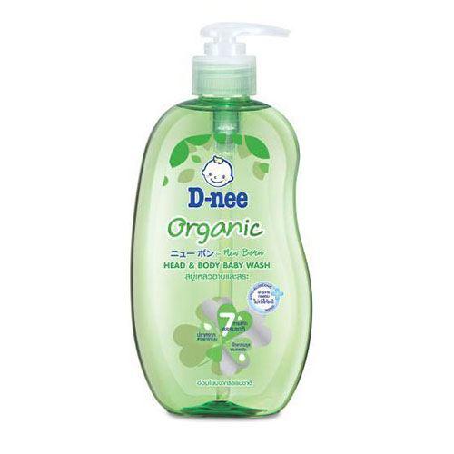 Tắm gội toàn thân em bé D-Nee Organic Xanh lá 380ml