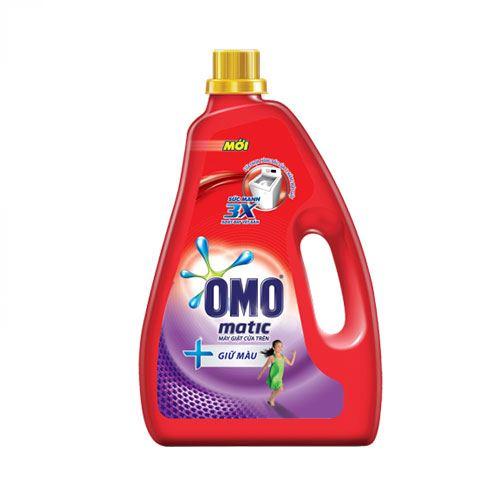 Nước giặt giữ màu Omo Matic cửa trên 2.4kg - Dạng chai