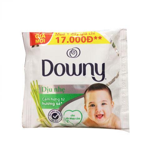 Dây 10 gói nước xả vải đậm đặc Downy dịu nhẹ hương sả 21ml