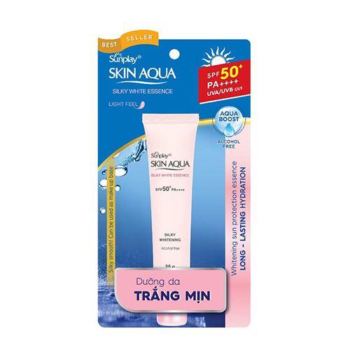 Tinh Chất Chống Nắng Dưỡng da Trắng Mịn Sunplay Skin Aqua Silky White SPF50+ 25g