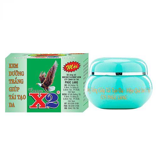 Kem dưỡng trắng tái tạo da X2 15g