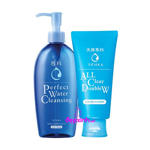 Bộ Sữa rửa mặt  và nước tẩy trang Senka Perfect Water Cleasing