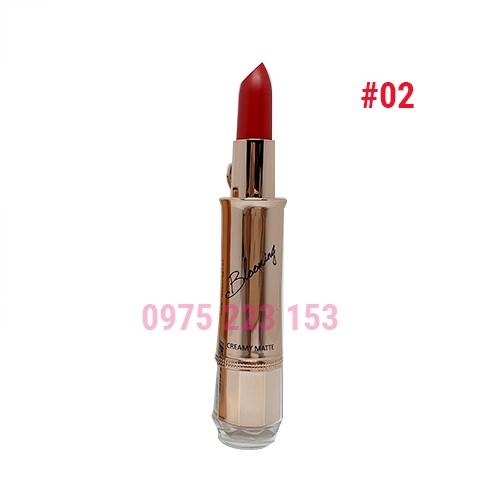 Son thỏi Izle Blooming Creamy Matte mã 02 Garnet Red 3.5g- Đỏ tươi
