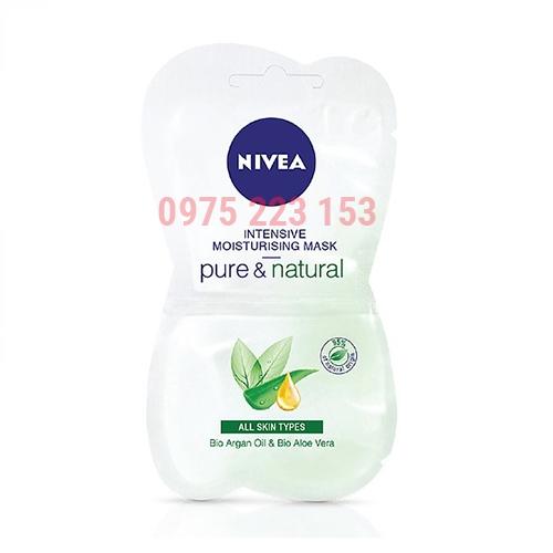 Mặt nạ thư giãn dạng kem Nivea Pure and Natural 2miếng x7.5ml
