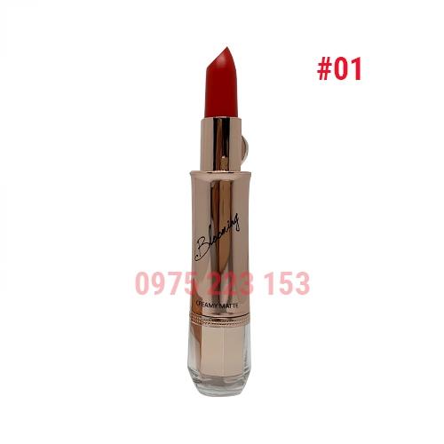 Son thỏi Izle Blooming Creamy Matte mã 01 Scarlet Red 3.5g-Đỏ cam