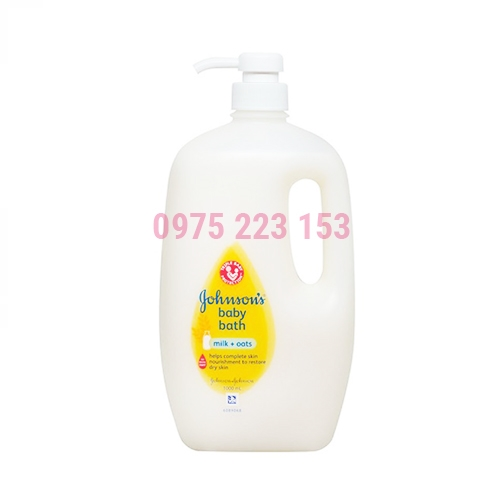 Sữa tắm dưỡng ẩm Johnsons Baby Bath Milk and Oats 1000ml