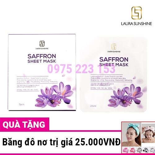 Hộp 5 miếng mặt nạ  nhuỵ hoa nghệ tây Saffron Laura Sunshine 25ml
