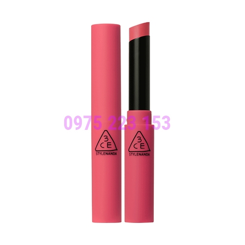 Son thỏi 3CE Slim Velvet Lip Color Hold On - Hồng Đào