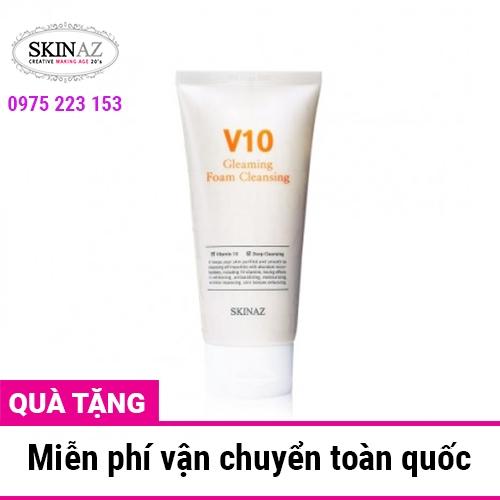 Sữa rửa mặt SKinaz V10 Gleaming Foam Cleansing 120ml
