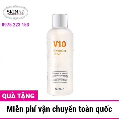 Nước hoa hồng dưỡng da Skinaz V10 Gleaming Toner 180ml