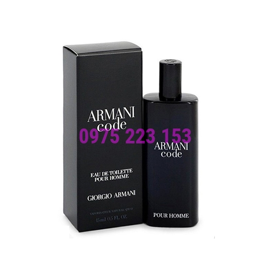 Nước hoa nam Giorgio Armani Code Eau De Toilette Pour Homme 15ml