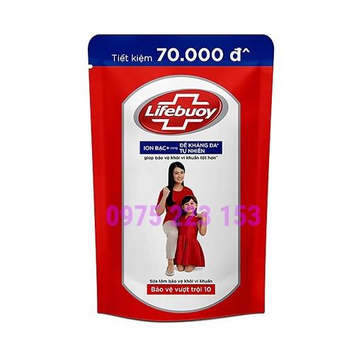 Túi sữa tắm Lifebuoy bảo vệ vượt trội 10 850g