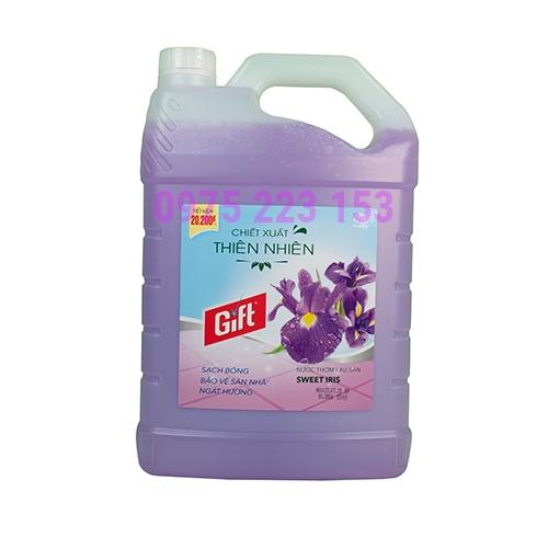 Nước lau sàn Gift Sweet Iris dạng can 3.8kg