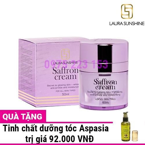 Kem dưỡng trắng da tinh chất nhụy hoa nghệ tây Laura Sunshine Saffron Cream 50ml