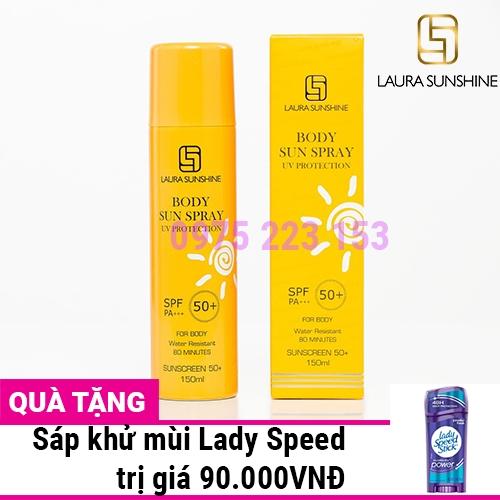 Xịt chống nắng body Laura Sunshine Body Sun Spray SPF50 150ml
