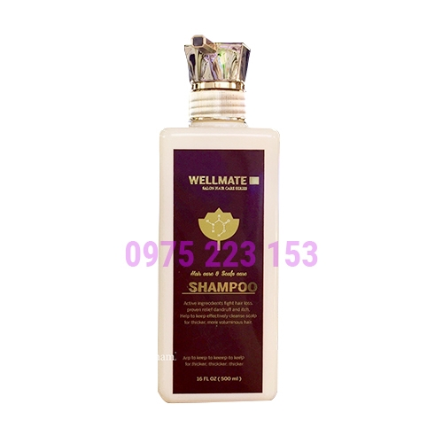 Dầu gội ngăn rụng và phục hồi tóc hư tổn Wellmate 500ml