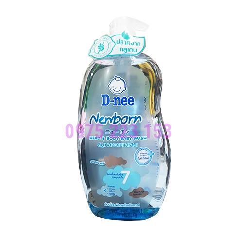 Tắm gội toàn thân dành cho trẻ sơ sinh D-nee Newborn 800ml