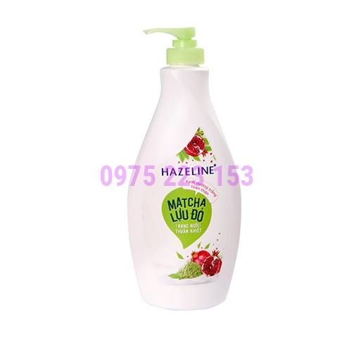 Sữa dưỡng thể trắng da Hazeline Matcha Lựu đỏ 370ml