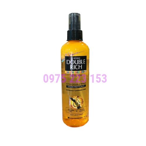 Nước xịt dưỡng tóc mềm mượt Double Rich 250ml