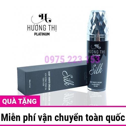 Kem dưỡng trắng toàn thân Hương Thị Silk  Body White Cream 120g
