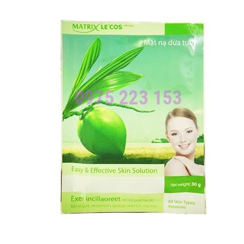 Mặt nạ dưỡng da tinh chất dừa tươi Matrix Lecos 30g
