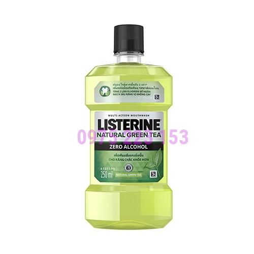 Nước súc miệng trà xanh Listerine Natural Green Tea 250ml