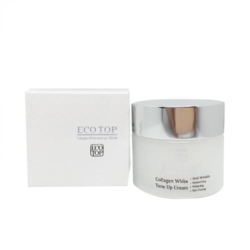 Kem dưỡng trắng da ngừa lão hoá EcoTop Collagen White Tone Up Cream 50ml