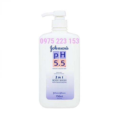 Sữa tắm Johnsons pH 5.5 2in1chứa kem dưỡng ẩm750ml