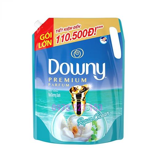 Túi nước xả vải Downy Premium parfum Aqua Ocean Đại Dương Xanh 2.1Lit