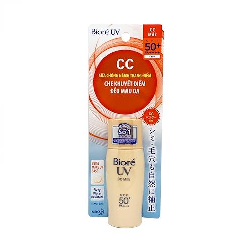 Sữa Chống Nắng Lót Nền Trang Điểm  Biore UV Color CC Milk  SPF50+/PA+++