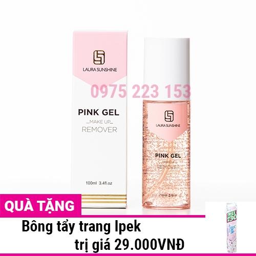Tẩy trang Laura Sunshine Pink Gel Make Up Remover 100ml - Nhật Kim Anh