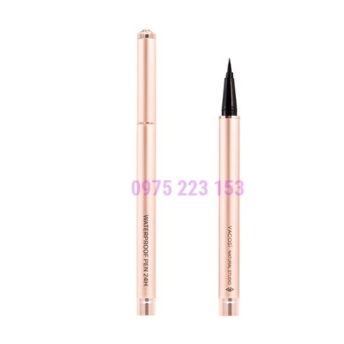 Bút kẻ mắt nước Vacosi 24h Waterproof Pen Rose Gold mẫu 2019