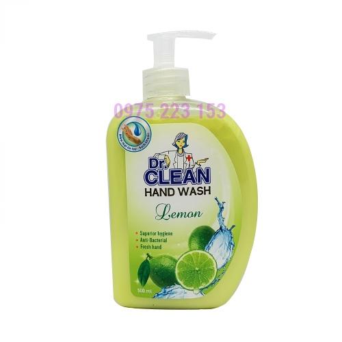 Sữa rửa tay diệt khuẩn Dr Clean Hand Wash Hương Chanh 500ml